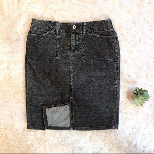 Express Black Corduroy Pencil Skirt - Size 3/4